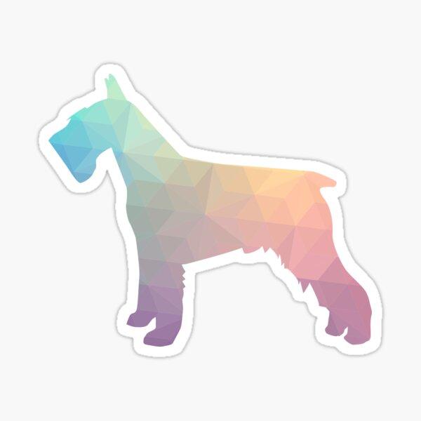 Schnauzer - Colorful Geometric Pattern Silhouette - pastel Sticker