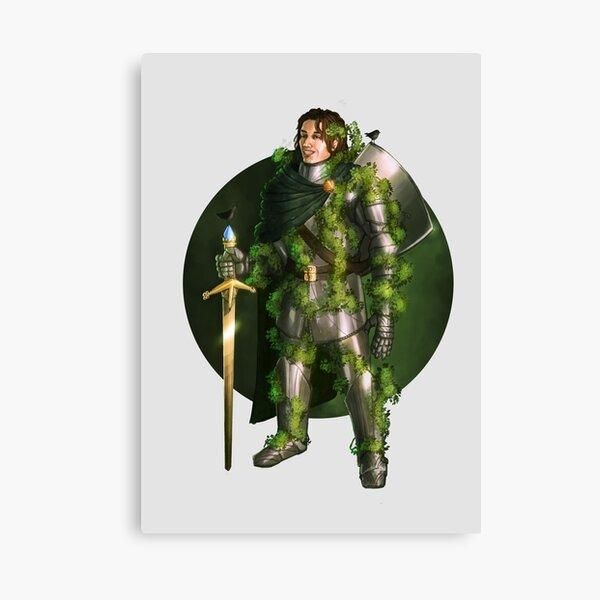 Green Knight Fantasy Print Canvas Print