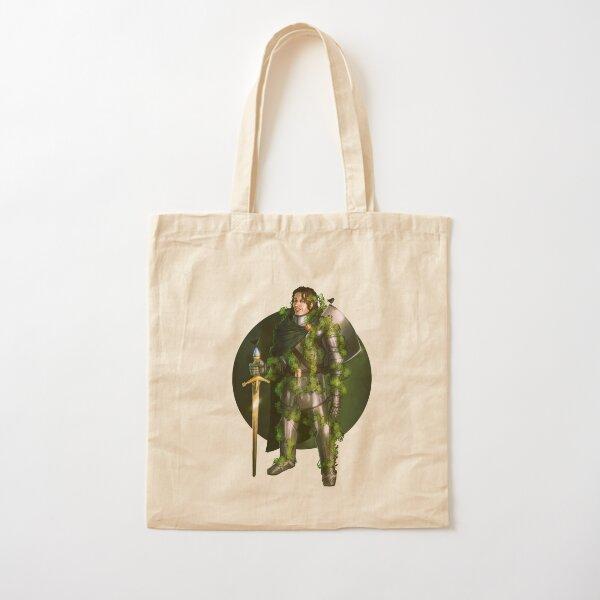 Green Knight Fantasy Print Cotton Tote Bag
