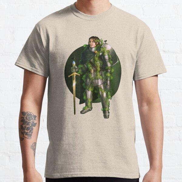 Green Knight Fantasy Print Classic T-Shirt