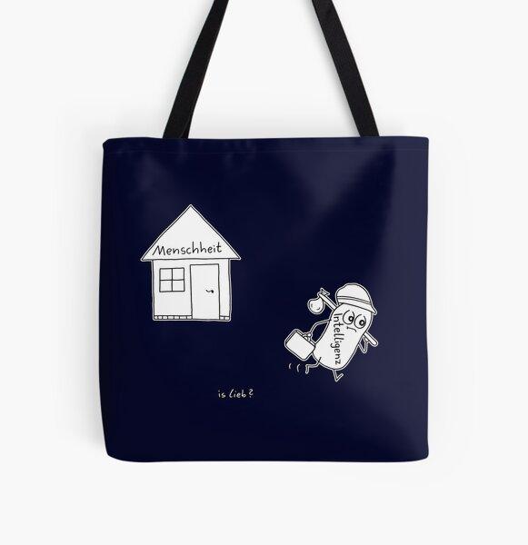 Bye islieb-Cartoon Allover-Print Tote Bag