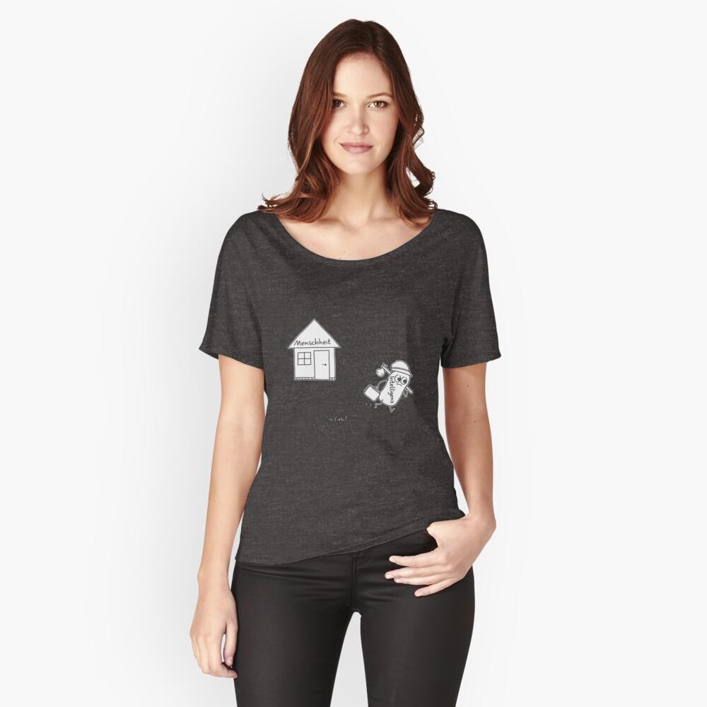 Bye islieb-Cartoon Loose Fit T-Shirt