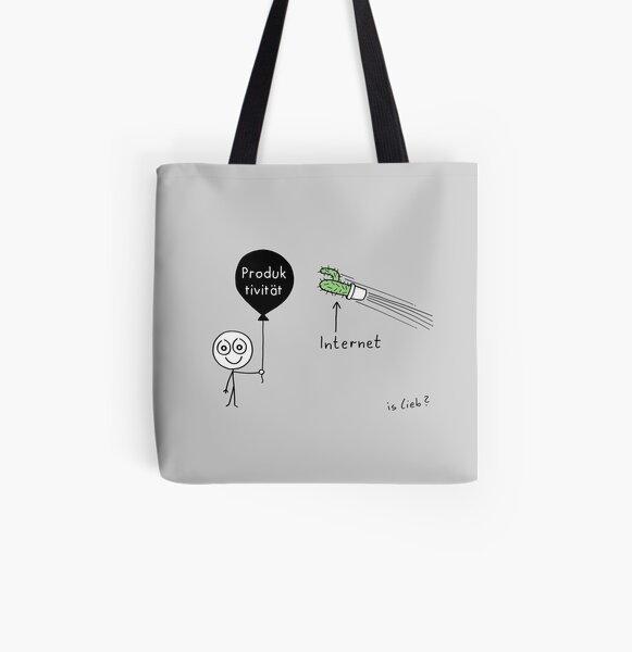 Modernes Drama Allover-Print Tote Bag