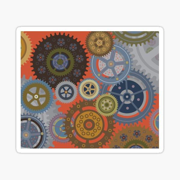 Steampunk Clockworks and Gears  Sticker