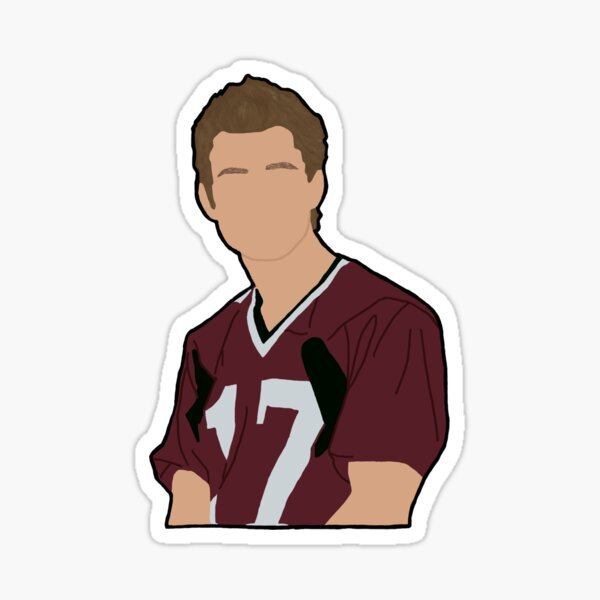 Stefan Salvatore Football Jersey Sticker