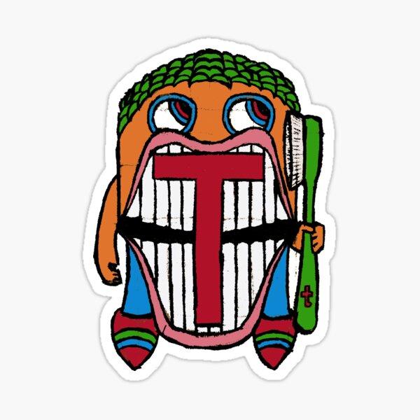Mister Tee says Brush Your Teeth Sticker