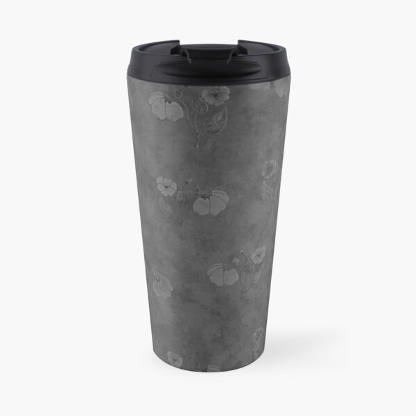 Watercolor Flowers - charcoal gray Travel Mug