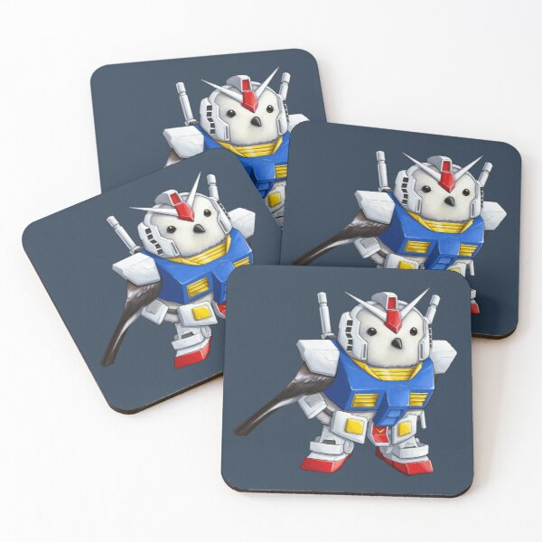 RX-78 Gunbirb Coasters (Set of 4)