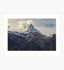 Mountainous Landscape Nature Fine Art Photography 0023 Art Print