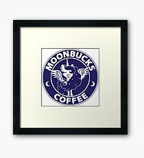Moonbucks Coffee Framed Print