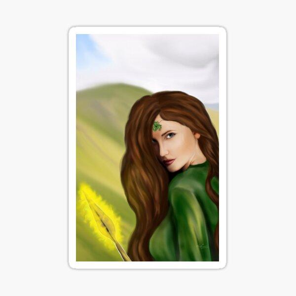 Ihre Augen mögen das Meer oder eine Mischung aus dem Grün des Landes und dem Blau des Himmels. (das hat sie mir gezeigt)  In irischer Tradition Sticker