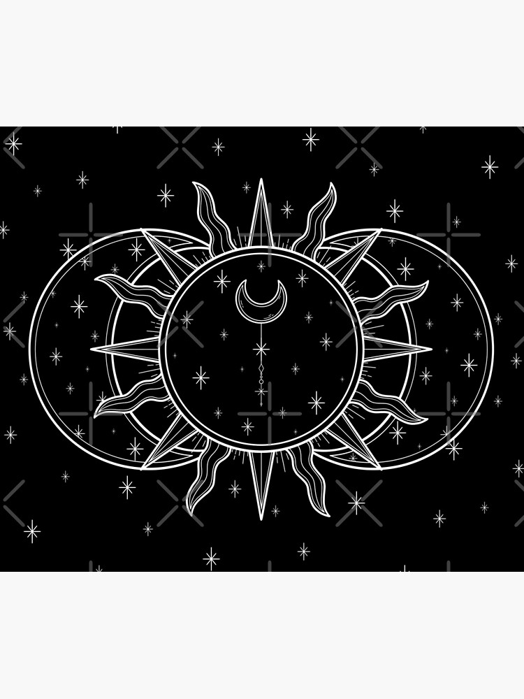 Celestial Sun and Moon and Stars by katieharperart