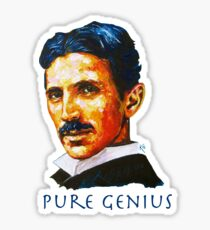 Nikola Tesla Tribute Sticker