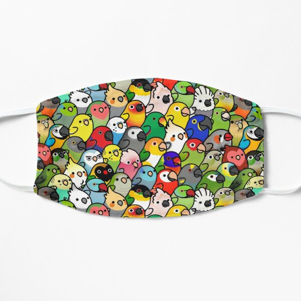 Everybirdy Pattern Flat Mask