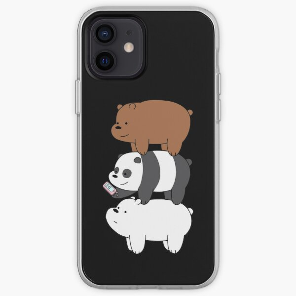 We Bare Bears™ Grizzly, Panda, and Ice bear iPhone Soft Case