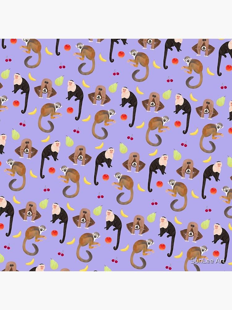 Monkeys & Fruits Pattern by sunleeart