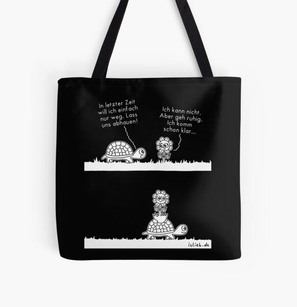 Abhauen - islieb-Comic Allover-Print Tote Bag