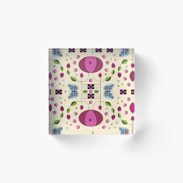 Rennie's Oval Rose Acrylic Block