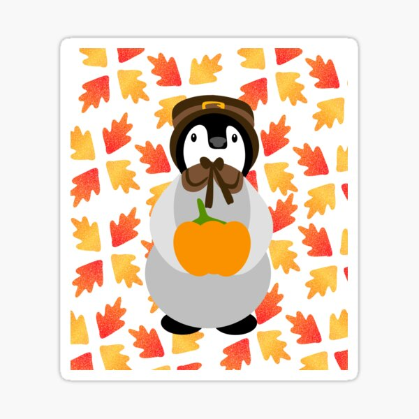 Thanksgiving Penguin Sticker