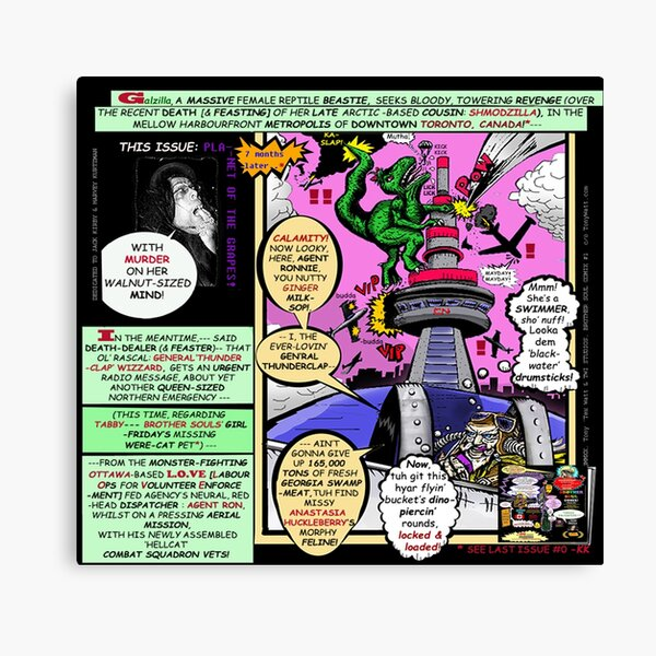 Brother Soul Comic Magazine Super Special ( Page Pop-Art Sample #27 ) Canvas Print