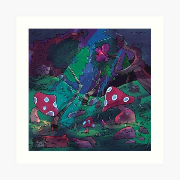 Mushroomy Forest Art Print