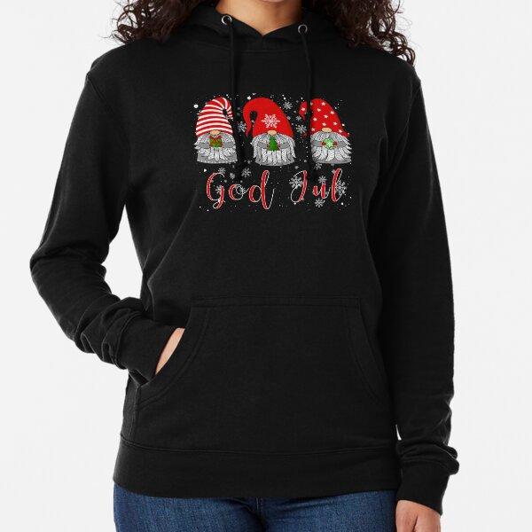 Scandinavian Gnomes God Jul Tomte Chemise nordique de Noël suédois Sweat à capuche léger