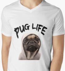 Pug Life Men's V-Neck T-Shirt