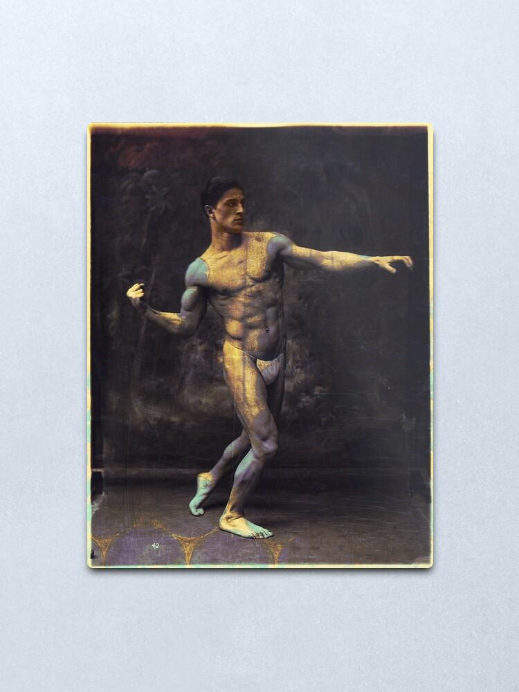 Alternate view of Vintage Boxer Modern Art Metal Print