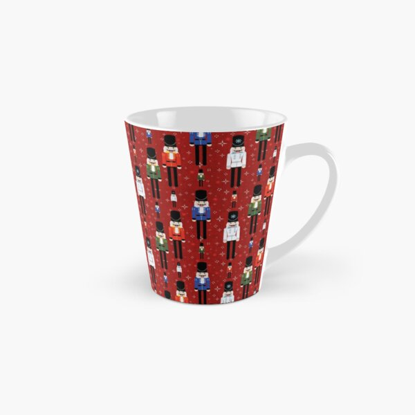 Christmas Nutcracker Soldiers Winter Pattern in Red Tall Mug