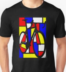 Mondrianesque Road Bike Unisex T-Shirt