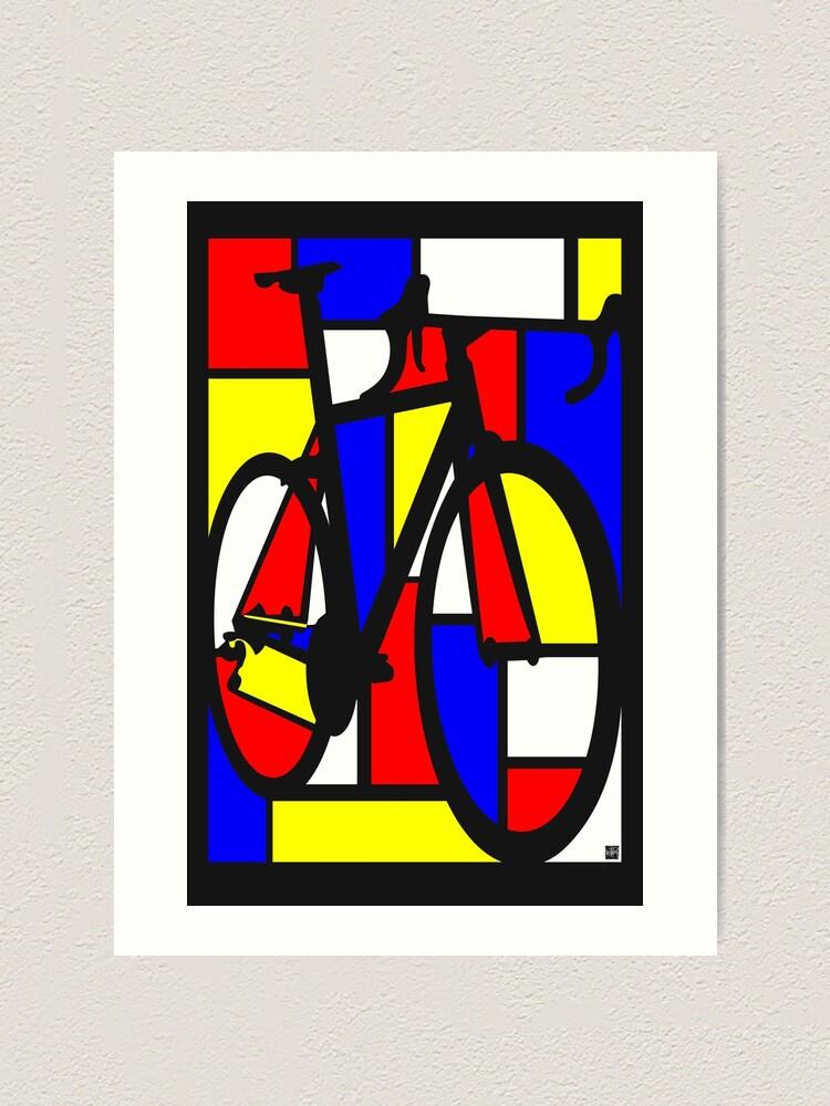 Vista alternativa de Lámina artística Bicicleta de carretera Mondrianesque