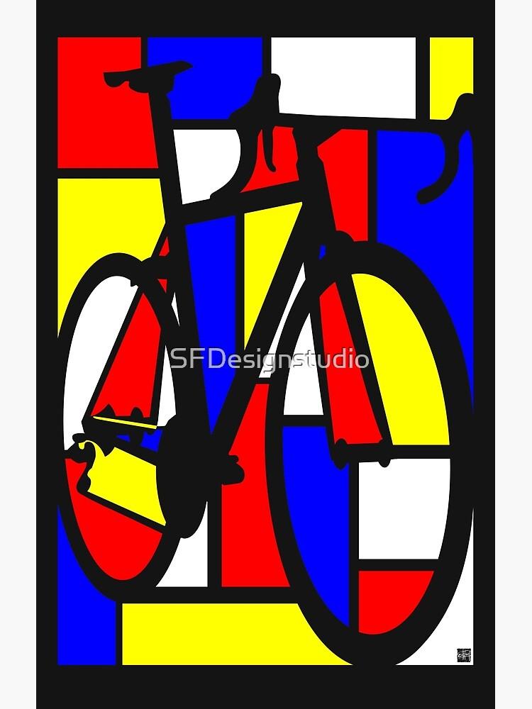 Bicicleta de carretera Mondrianesque de SFDesignstudio