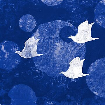Three Cosmic Birds Digitally Altered Version of Original Work 13 by Heatherian