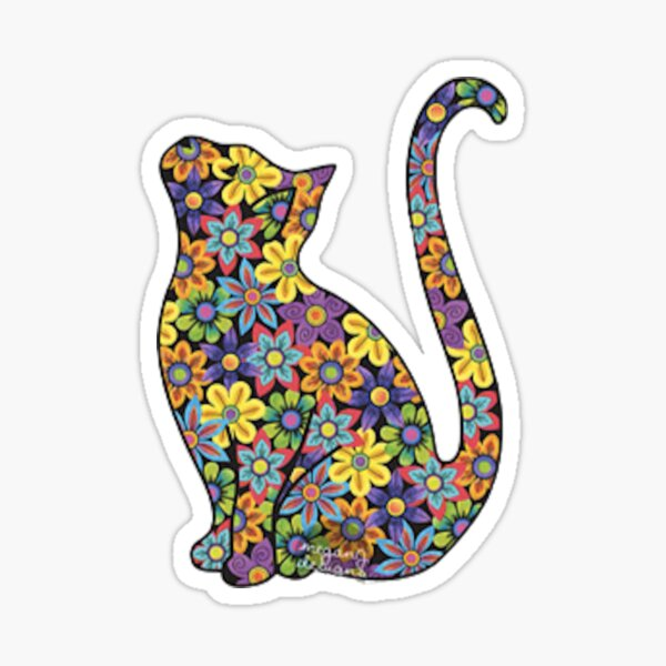 Flower Cat Sticker