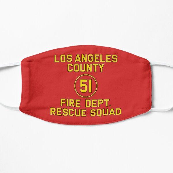 Logo de reproduction de l'escouade d'urgence 51 côté du camion Masque sans plis