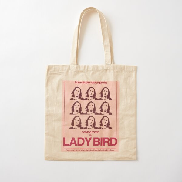 Lady Bird Poster Cotton Tote Bag