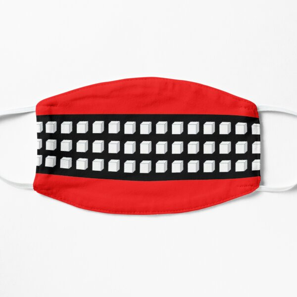 Red Black and White Cube Graphic T-Shirt Mask