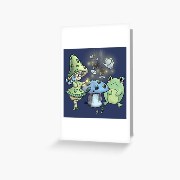 A Mushroom Tea Party Greeting Card