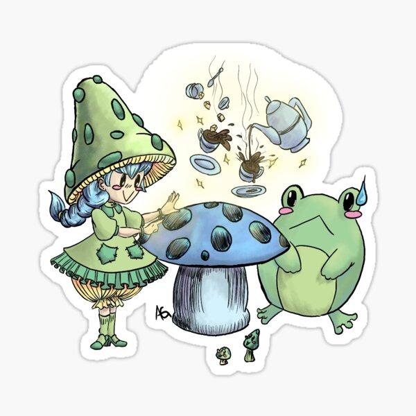 A Mushroom Tea Party Sticker