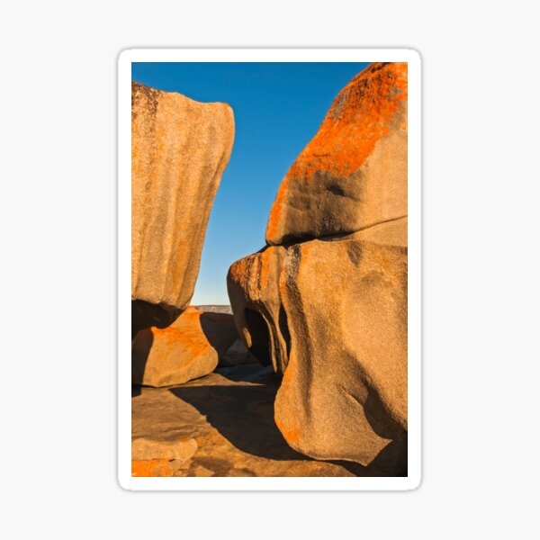 Remarkable Rocks Textures and Curves Sticker