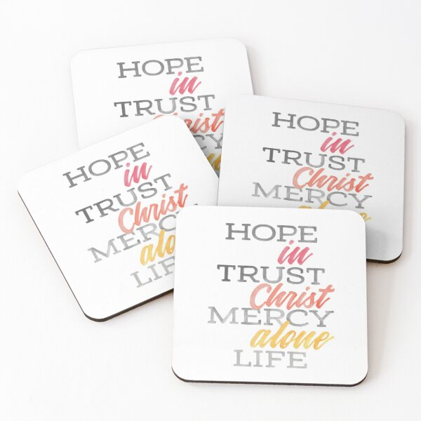 In Christ Alone (Warm Tones) Coasters (Set of 4)