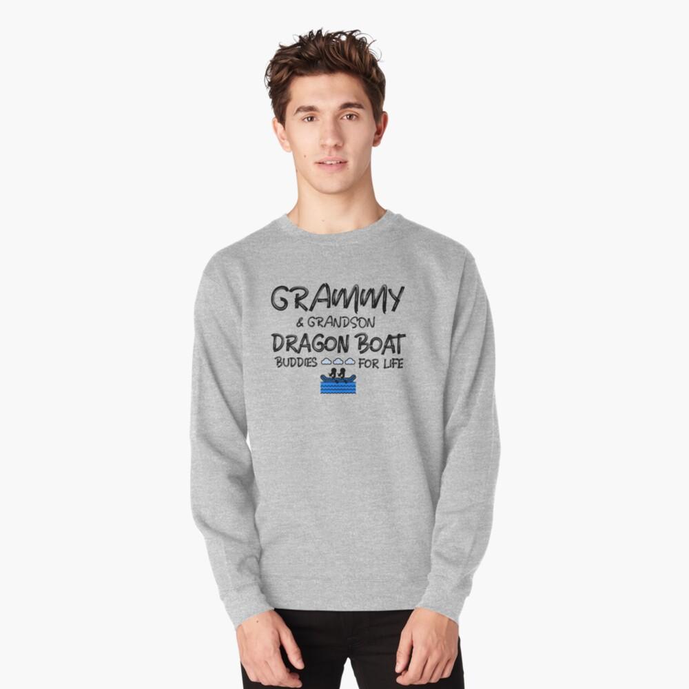 Grammy & Grandson Dragon Boat Buddies for Life (Dark Print) Pullover Sweatshirt