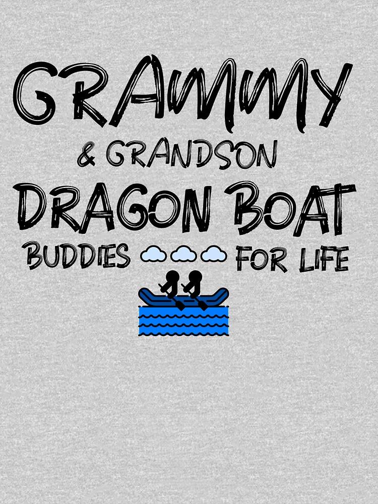 Grammy & Grandson Dragon Boat Buddies for Life (Dark Print) by vinwin1
