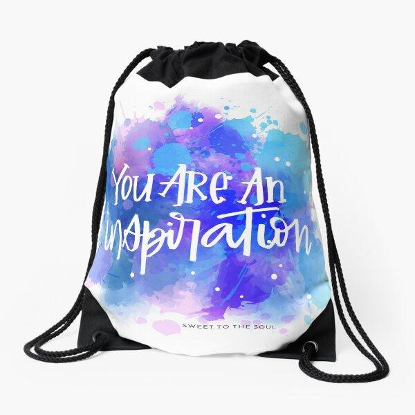 You Are An Inspiration Drawstring Bag