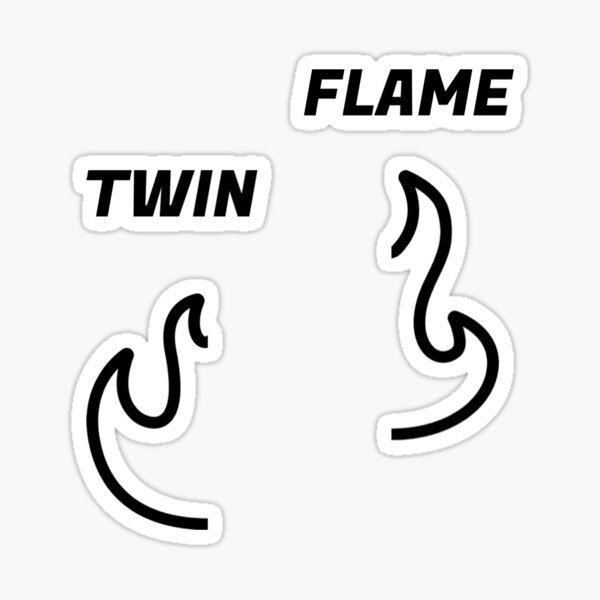 twin flame pack Sticker