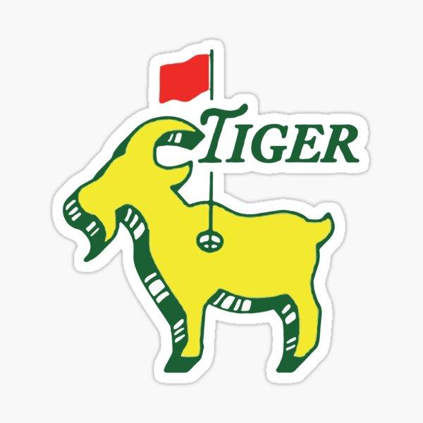 Tiger Masters GOAT Funny Golfer Sticker