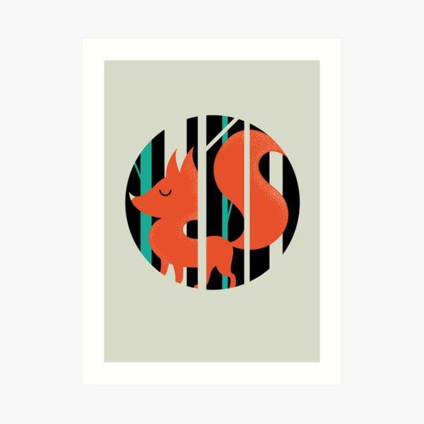 Proud Forest Fox Art Print