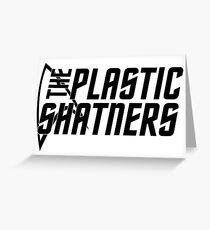 Plastic Shatners Logo Black Greeting Card