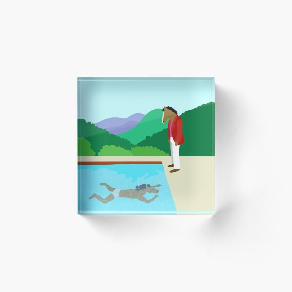 Minimal Horseman Acrylic Block