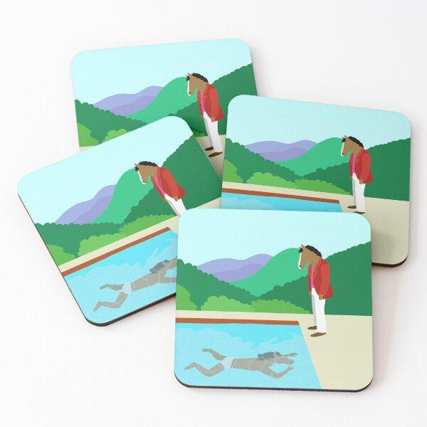 Minimal Horseman Coasters (Set of 4)